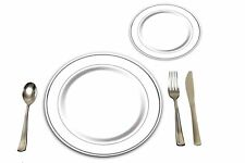 25 Heavyweight Elegant Plastic Disposable Place Settings