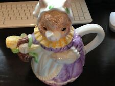 VINTAGE HERITAGE MINT COLLECTION MS. PIGGIE TEA POT WITH FREE SHIPPING