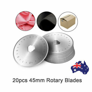 20pcs 45mm Rotary Replacement Blade Leather Fabric Cut Quilter Sewing Cutter