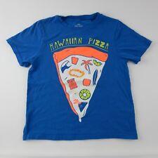 Okie Dokie Blue Pizza Graphic Short Sleeve T shirt Size XL