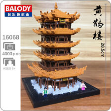 Balody Architecture Tower of Yellow Crane DIY Mini Diamond Blocks Building Toy