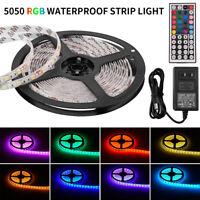 5M SMD RGB 5050 Waterproof 300 LED Strip Light 44 Key Remote 12V 3A Power Lot