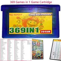 369 in 1 Games for Advance NDS GBA SP NDS Multicart Game Cartridge Gift Replace
