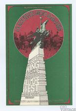 Bill Graham 195 Postcard Ad back Country Joe & the Fish Albert King 1969 Oct 9