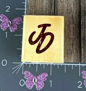 Uptown Rubber Stamps J D Initials JD JO Name #E153