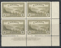 "Canada MINT NH PLATE BLOCK LR Scott #269 Plate 2 Great Bear Lake ""KGVI Peace"""
