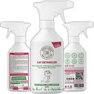 Cat Detangler Spray - Natural Deodorising Daily Grooming Dematting Conditioner