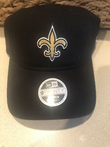 NEW- New Era Womens NFL New Orleans Saints 9TWENTY Bow Back Adjustable Hat