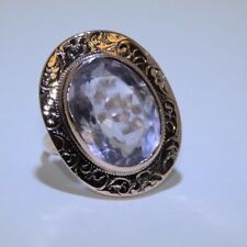 Vintage Ring with Light Amethyst Stone on 14K Rose Gold, Ring Size 9.25
