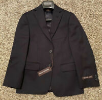 NEW Michael Kors Boys 100% Wool Suit Separate Jacket Navy Blue Size 8 $170 NWT