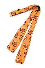 Bow Tie Adjustable Self Tie Orange With Red Black & White Printed Design Euc