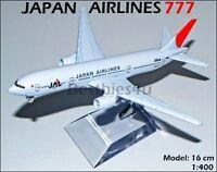16cm BOEING 777 JAL JAPAN AIRLINES METAL PLANE MODEL AIRCRAFT AIRWAYS AEROPLANE