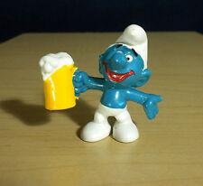 Smurfs Beer Mug Smurf Oktoberfest Vintage Party Figure Toy PVC Figurine 20078
