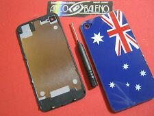 Kit COVER POSTERIORE RETRO pr APPLE IPHONE 4 4G+GIRAVITE FLIP BATTERIA VETRO AUS