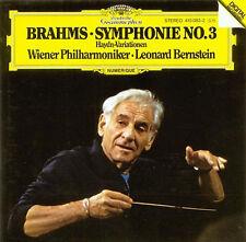 Brahms: Symphonie no 3, Haydn-Variationen / Bernstein - CD