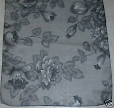 Womens Polyester Scarf India Gray Floral VERY NICE!