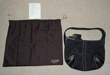 COACH Signature C Black Hobo Purse Bag Tote, #11289, with Bag, Nice!!