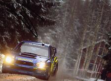 Stephane Sarrazin Hand Signed Subaru World Rally Team Photo 7x5 9.