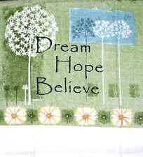 Kitchen Dish Towels W/Crochet Tops Dream Hope Believe Listing #975