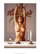 Mel Ramos JOUNG Girl BEFORE A MIRROR POSTER MANIFESTO 10 POPART USA artisti