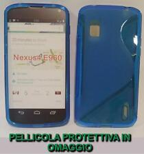 Pellicola+Custodia cover case WAVE BLU per LG Nexus 4 E960
