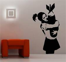 BANKSY STYLE BOMB HUGGER  wall art sticker vinyl DECAL