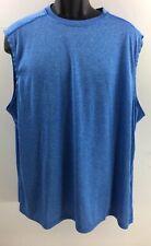 Starter Mens Shirt 2Xl 50-52 Blue Sleeveless Training Fit Performance Dri-Star