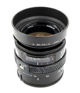 Minolta Maxxum AF 35-70mm f/4 Lens w/ Caps & Hood (also fits Sony A Mount)