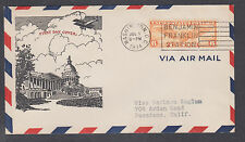 US Mel C19-21 FDC. 1934 6c Winged Globe Air Mail, Ioor cachet