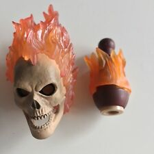 █ Custom Ghost Rider Skull 1/6 Head Sculpt Nicolas Cage for Hot Toys Body