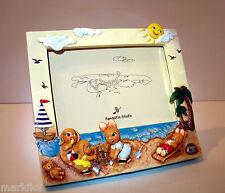Pendelfin Rectangular Landscape photo frame figurine beach sea scene w/ Box
