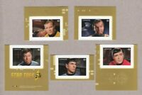 STAR TREK 50th Anniversary Set of 5 booklet stamps MNH Canada 2016 #2917-21