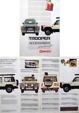 Isuzu Trooper Accessories 1990/91 Original UK Sales Brochure