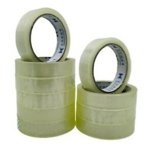 22MM X 35M STATIONERY TAPE ROLLS CLEAR PACKING SELLOTAPE CELLOTAPE 4 12 100 UK