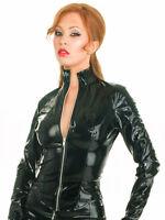 Honour Women's Mistress Jacket in PVC Black Zip Closure Costume Fetish Wear