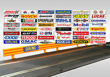 48 Slot Car/Scalextric Crash Barrier Stickers