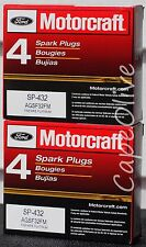 8 PCS – Motorcraft SP-432 Finewire Platinum Spark Plugs (AGSF32FM)