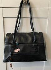 Radley Border Medium Black Tote Handbag (with dustbag and care Card)