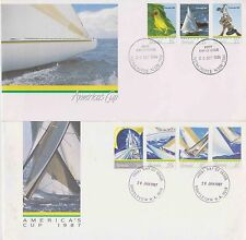 2 x FDC - America's Cup 1986 & 1987