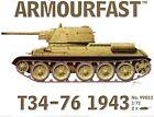 Armourfast 1/72 T34/76 1943 Tank Kit Modélisme - Contient 2 Chars - 99022