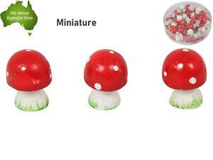 36 Mini Red White Mushroom Craft Fairy Garden Miniature Figurine Cake Decoration