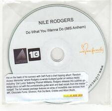 (GI636) Nile Rodgers, Do What You Wanna Do - 2014 DJ CD