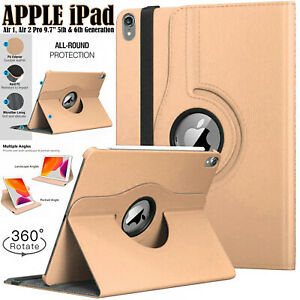Case For Apple iPad Air 1/2, 5th/6th (Gen) Smart Stand 360 Degree Rotating Cover