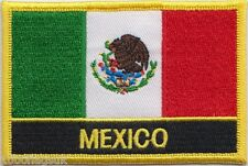 Mexico Flag Embroidered Patch Badge - Sew or Iron on