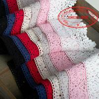 1YD,Vintage Embroidery Crochet Cotton lace trim Curtain Sewing Ribbon DIY FL34B