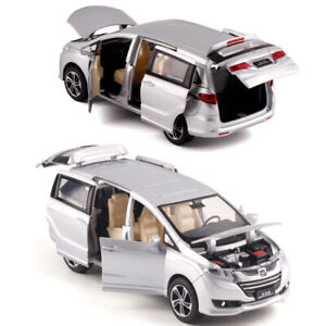 Honda Odyssey MPV 1:32 Metal Diecast toy cars model Sound&Light Silver