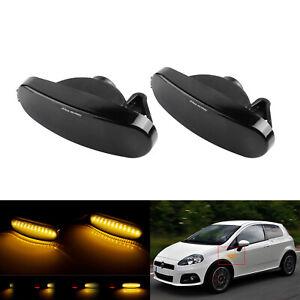 2x Dynamique LED Clignotant Répétiteur Pour Fiat Grande Punto Multipla Punto EVO