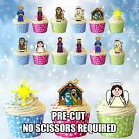 Nativity Scene Christmas Traditional Edible Cupcake Toppers Cake Decorations