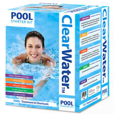 CLEARWATER POOL STARTER KIT CHLORINE GRANULES HOT TUB WATER TREATMENT CHEMICAL