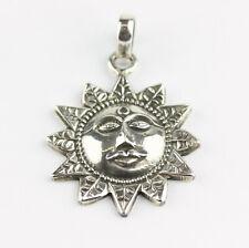 Sonne Anhänger Echt 925 Silber Kettenanhänger Medaillon Yoga Glückbringer heilen